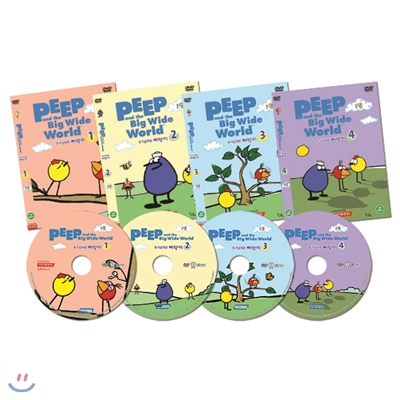[DVD] Peep and the Big Wide World 호기심 대장 삐악이 1집 4종세트