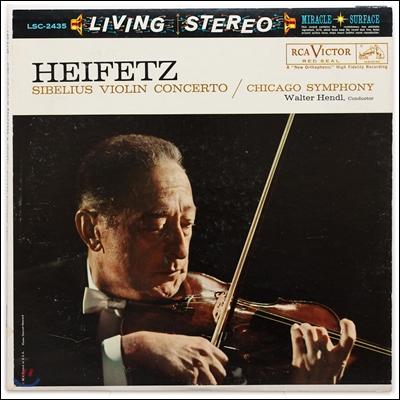 Jascha Heifetz 시벨리우스: 바이올린 협주곡 - 야사 하이페츠 (Sibelius: VIiolin Concerto) [LP]