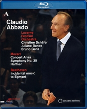 Claudio Abbado 모차르트: 콘서트아리아, 교향곡 35번 '하프너' & 베토벤: 극부수음악 '에그몬트' (Abbado - Mozart : Symphony No. 35 & Beethoven : Egmont) 블루레이