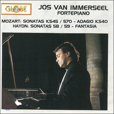 Jos Van Immerseel 모차르트 / 하이든: 포르테 피아노 연주집 - 요스 반 임머젤 (Mozart: Sonatas K545 & 570, Adagio / Haydn: Sonatas 58, 59, Fantasia)