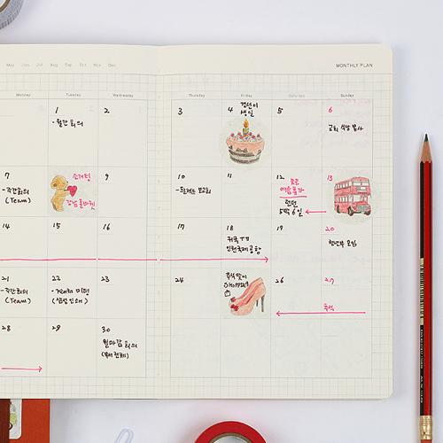 스티커 컬러링북+비비드젤펜 10본세트