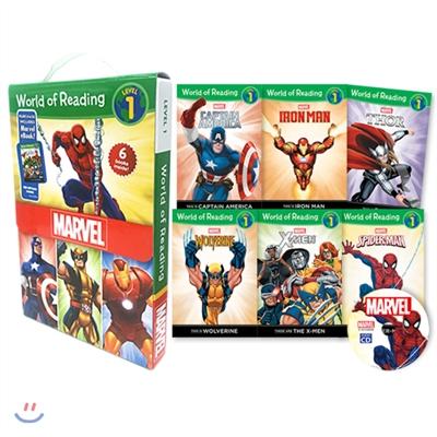 월드 오브 리딩 World of Reading Marvel Boxed Set: Level 1 (with CD)