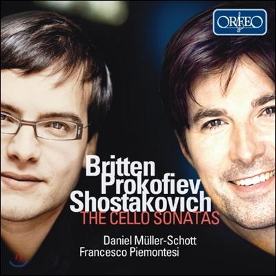 Daniel Muller-Schott / Francesco Piemontesi 브리튼 / 프로코피에프 / 쇼스타코비치: 첼로 소나타 (Britten / Prokofiev / Shostakovich: The Cello Sonatas) 다니엘 뮐러-쇼트 프란체스코 피에몬테지