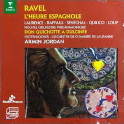 Armin Jordan / Ravel : L'Heurre Espagnole, Don Quichotte (수입/미개봉/0630199902)