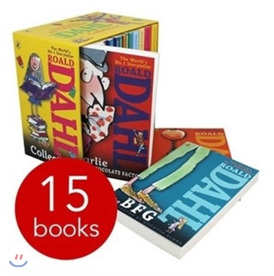 Roald Dahl 15종 Book Collection Gift Set