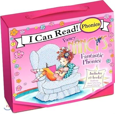Fancy Nancy's 12-Book Fantastic Phonics Fun!: Includes 12 Mini-Books Featuring Short and Long Vowel Sounds