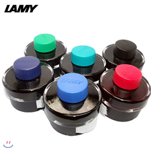 [20%할인]Lamy 병잉크 50ml(흑,적,군청,청,터키옥,녹색)