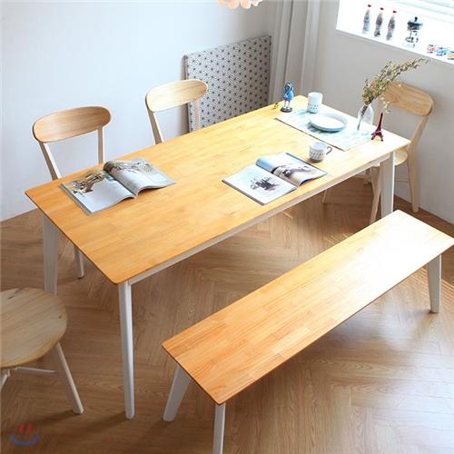 코펜하겐 8인 식탁 테이블(북유럽2인책상,의자별도)