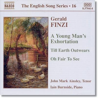Roderick Williams 제럴드 핀치: 젊은이의 충고 (Gerald Finzi: A Young Man's Exhortation, Op. 14)