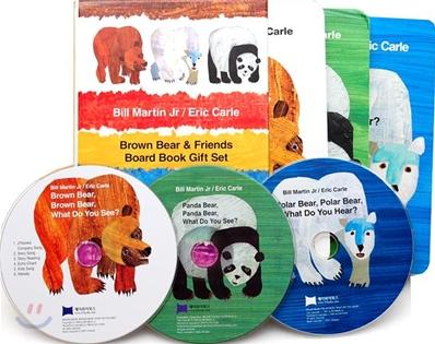 [노부영]에릭칼 Bear 보드북 3종 세트 (Board Book & CD Set)