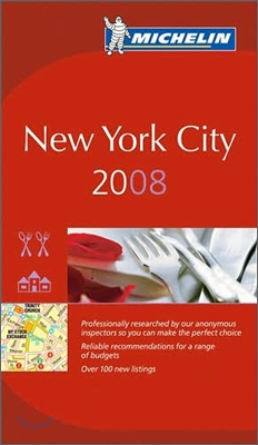 Michelin Red Guide New York City 2008