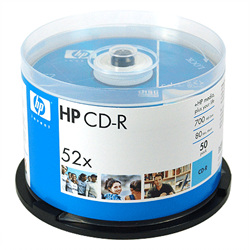 HP CD-R(50P)52X,700M/80min]