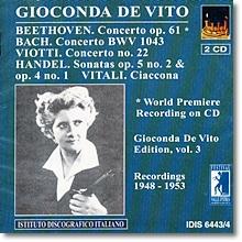 베토벤 / 바흐 / 비오티 : 바이올린 협주곡 외 - 지오콘다 데 비토