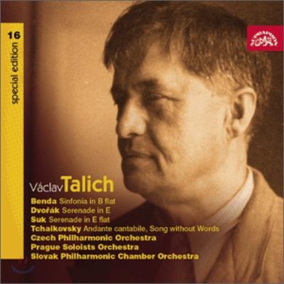 Vaclav Talich 바츨라프 탈리히 체코 음악 - 안톤 벤다 / 드보르작 / 수크 / 차이코프스키