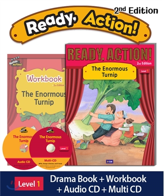 Ready Action Level 1: The Enormous Turnip (SB+WB+Audio CD+Multi-CD)