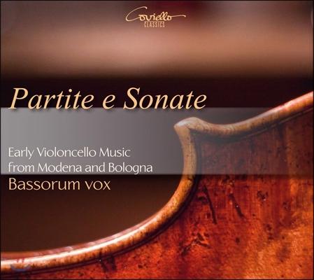 Bassorum Vox 파르티타와 소나타 - 모데나와 볼로냐의 초기 첼로 음악 (Partite E Sonate - Early Violoncello Music From Modena And Bologna) 바소룸 복스