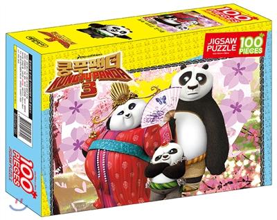 쿵푸 팬더 3 직소퍼즐 100 포와 새로운 친구들