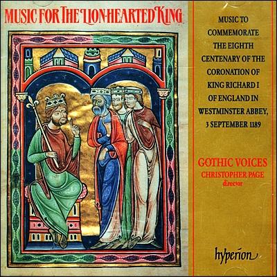 Gothic Voices 사자왕을 위한 음악 : 리차드 1세의 즉위 800주년 기념 앨범 (Music For The Lion Hearted Kings - Music To Mark The 800th Anniversary)