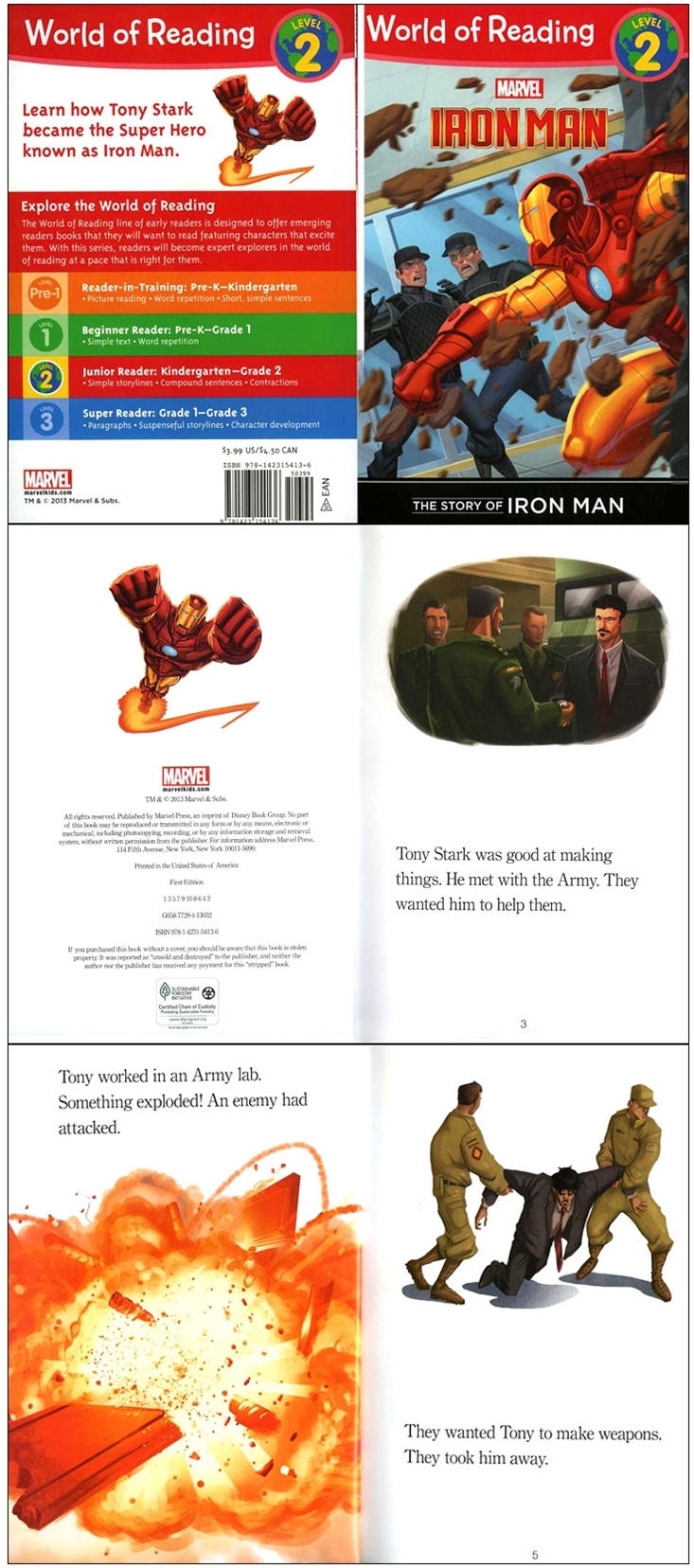 World of Reading Level 2 : The Story of Iron Man - YES24