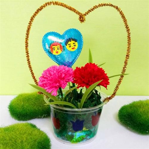 하늘공작소 향기 카네이션 컵바구니 비누꽃