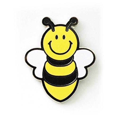 스마일 꿀벌 뱃지