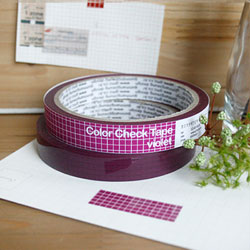 �Ǹ��� Color Check Tape(violet)