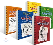Diary of a Wimpy Kid #1 - #4  + Do It Yourself Book ��Ʈ