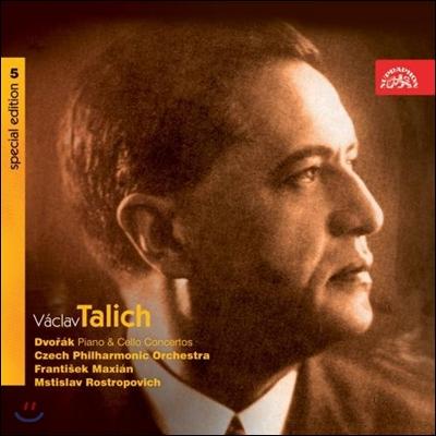 Vaclav Talich 드보르작: 피아노, 첼로 협주곡 (Dvorak: Piano Concerto Op.33, Cello Concerto Op.104) 바츨라프 탈리히