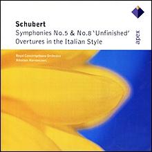 Nikolaus Harnoncourt 슈베르트: 교향곡 5, 8번 - 니콜라우스 아르농쿠르 (Schubert: Symphony No.5, No.8, Ovewture D.590 591)