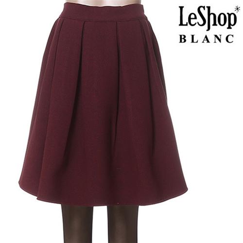Leshop BLANC/해피 플레어 안감기모 스커트 (LFCSKB52)