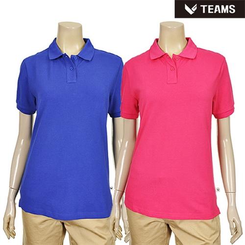 여성 심플 솔리드 카라 티셔츠 (TT2H901)