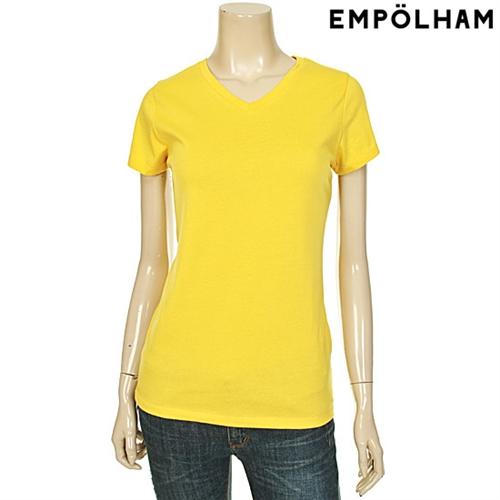 여성 베이직 V넥 반팔 티셔츠 YE (ES5M874)