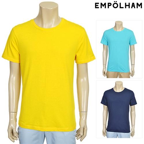 남성 베이직 솔리드 반팔 티셔츠 (ET5M813)