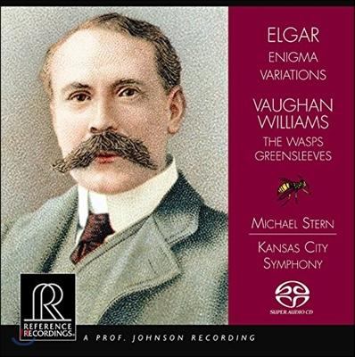 Michael Stern 본 윌리엄스: 말벌, 푸른옷소매 / 엘가: 수수께끼 변주곡 (Vaughan Williams: The Wasps, Greensleeves / Elgar: Enigma Variations) 마이클 스턴, 캔사스 시티 심포니 [HDCD]