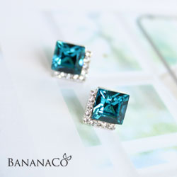 Blue Chip earring