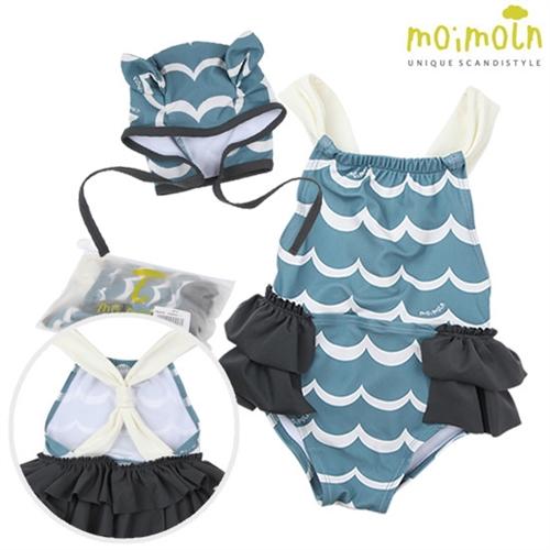 [모이몰른] 스캘럽 원피스 수영복(자외선차단) [여름]