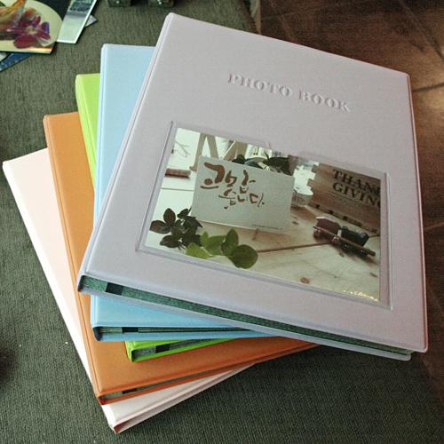[30%할인]Color photo book-black(L)_접착식(블랙내지)