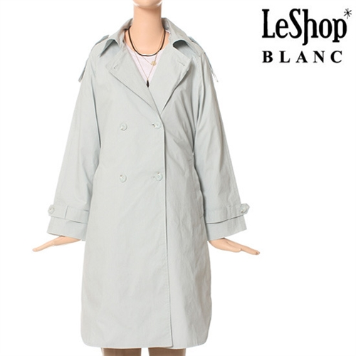 [Leshop BLANC] 옆트임 코튼 트렌치 코트 SB (LG3BYB02)