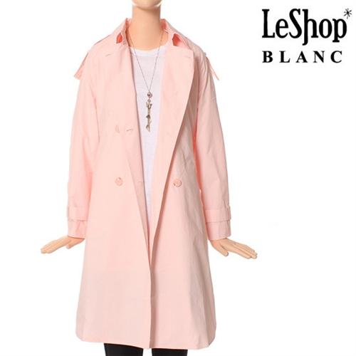 [Leshop BLANC] 옆트임 코튼 트렌치 코트 PK (LG3BYB02)
