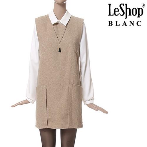 [Leshop BLANC] 블라우스 이너 빅포켓 원피스 BG (LFCOPB56)