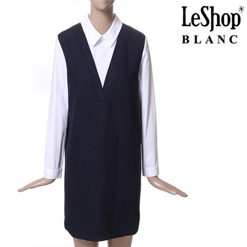 [Leshop BLANC] 레이어드 원피스 NY (LG1OPB28)