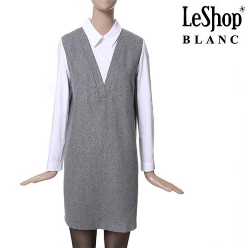 [Leshop BLANC] 레이어드 원피스 GY (LG1OPB28)
