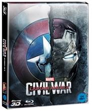 캡틴 아메리카: 시빌 워 (2D+3D 스틸북 2Disc 한정판) : 블루레이
