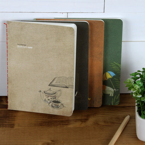 [독서기록장] 빈티지 북마크노트 (4가지 컬러) - 독서다이어리,독서록
