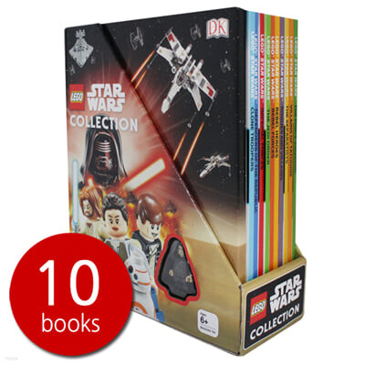 DK 레고 스타워즈 컬렉션 10종 박스 세트 (피규어 1개 포함) DK Lego Star Wars Collection 10 Books Set