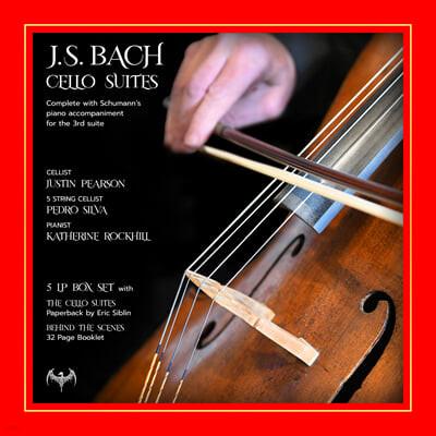 Justin Pearson 바흐: 무반주 첼로 모음곡 전곡 (J.S.Bach: Complete Cello Suites BWV1007-BWV1012) [5LP]