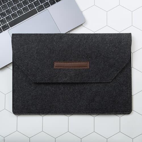 펠트 노트북 슬리브 파우치 태블릿 케이스 13형 블랙