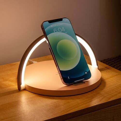 무드 조명 고속 무선  충전기 스마트폰거치대 LED15W