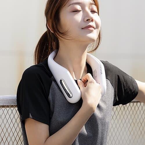 목에 거는 USB 넥밴드 선풍기 무선 휴대용 목풍기