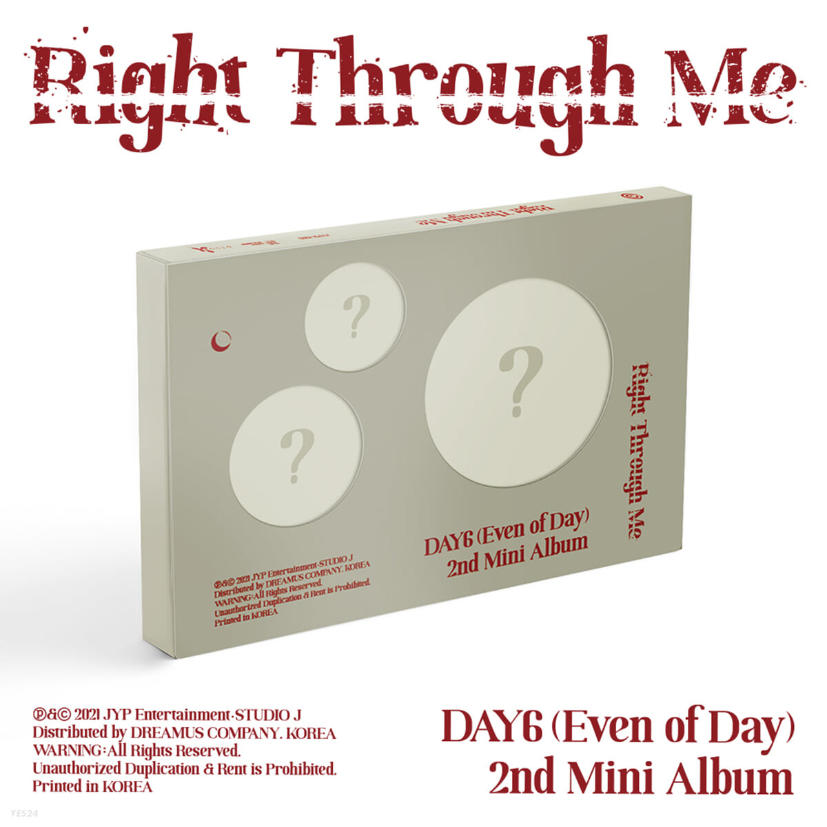 DAY6 (Even of Day) - Right Through Me - YES24